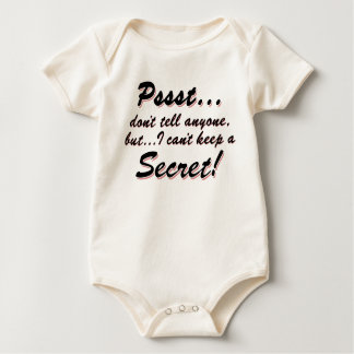 Pssst...I can't keep a SECRET (blk) Baby Bodysuit
