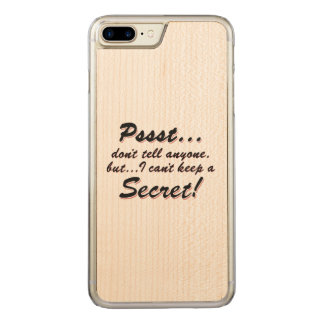 Pssst...I can't keep a SECRET (blk) Carved iPhone 8 Plus/7 Plus Case