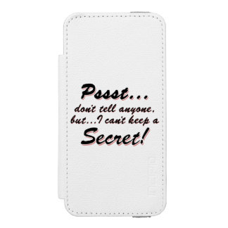 Pssst...I can't keep a SECRET (blk) Incipio Watson™ iPhone 5 Wallet Case