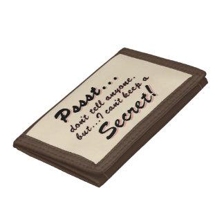 Pssst...I can't keep a SECRET (blk) Tri-fold Wallets