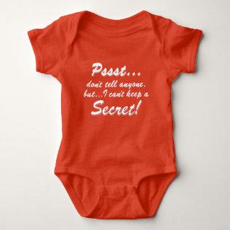 Pssst...I can't keep a SECRET (wht) Baby Bodysuit