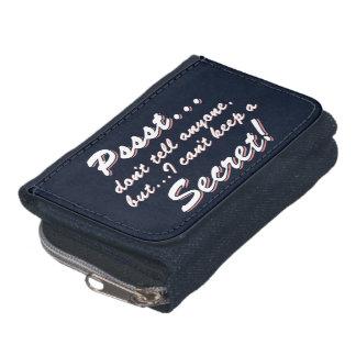 Pssst...I can't keep a SECRET (wht) Wallet