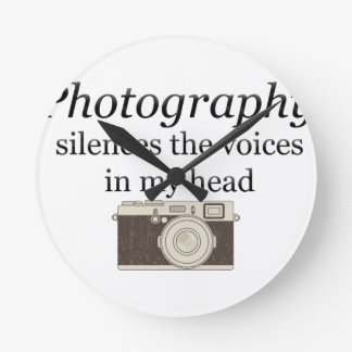 pstvimhPhotography silences the voices in my head Clock