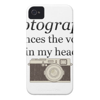 pstvimhPhotography silences the voices in my head iPhone 4 Cases