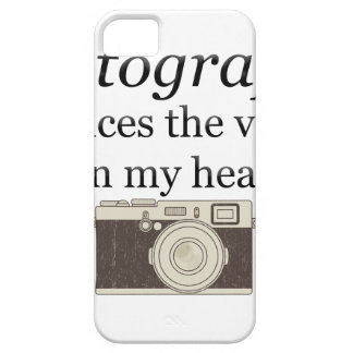 pstvimhPhotography silences the voices in my head iPhone 5 Cases