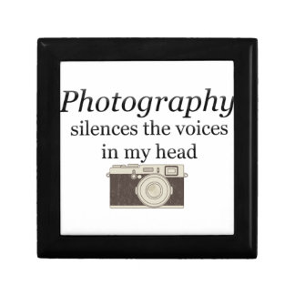 pstvimhPhotography silences the voices in my head Keepsake Box