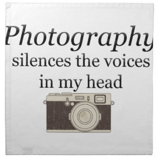 pstvimhPhotography silences the voices in my head Napkin