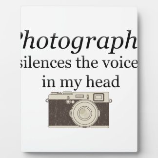 pstvimhPhotography silences the voices in my head Plaque
