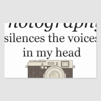 pstvimhPhotography silences the voices in my head Sticker