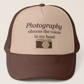 pstvimhPhotography silences the voices in my head Trucker Hat
