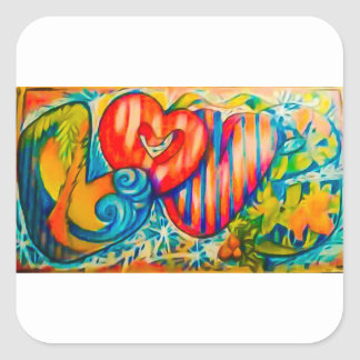 PSX_20161212_love sign Square Sticker