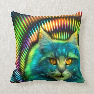 """""""Psy Cat"""" Dekokissen Throw Pillow"""