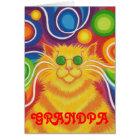 Psy-cat-delic 'Grandpa' birthday card