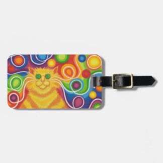Psy-cat-delic 'text' luggage tag