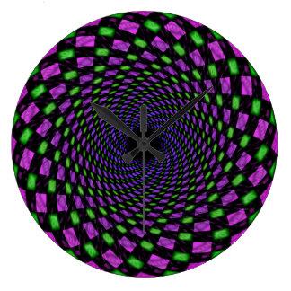 Psy spiral (hole) wallclock