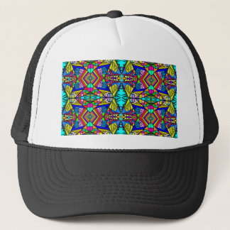 Psycedellic Pattern 3 - Trippy and Bright All-Over Trucker Hat