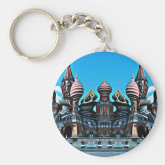 Psycgedelic Moscow Basic Round Button Keychain