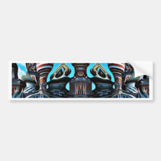 Psycgedelic Moscow Bumper Sticker