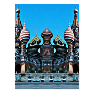 Psycgedelic Moscow Postcard