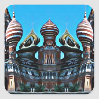 Psycgedelic Moscow Square Sticker