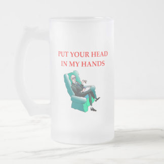 PSYCH FROSTED GLASS BEER MUG