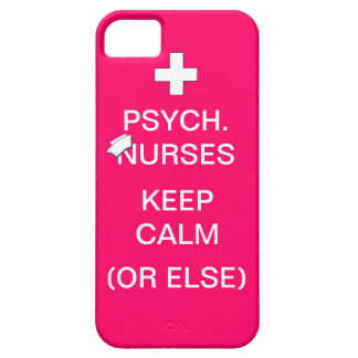 Psych Nurses Keep Calm /Bubble Gum Pink iPhone 5 Covers