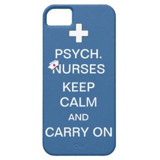 Psych Nurses Keep Calm Summer Sky Blue iPhone 5 Case