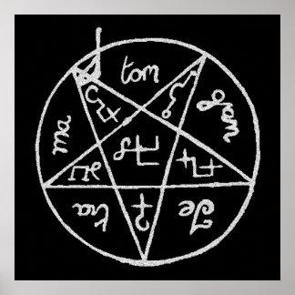 PSYCH WARD Pentagram Poster