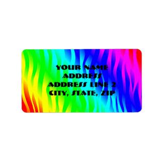 Psychadelic flaming rainbow colors