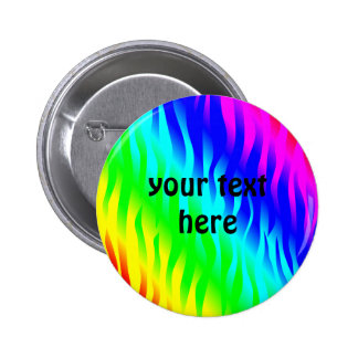 Psychadelic flaming rainbow colors 2 inch round button