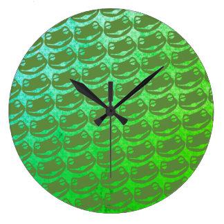 Psychadelic Frog Kekistan Round (Large) Wall Clock