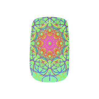 Psychadelic Mandala Minx Nails Nail Wraps