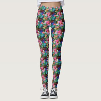 Psychadelic Patterned Leggings