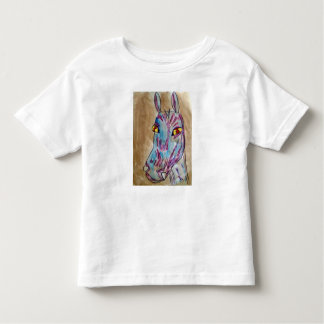 psychadelic zebra toddler t-shirt