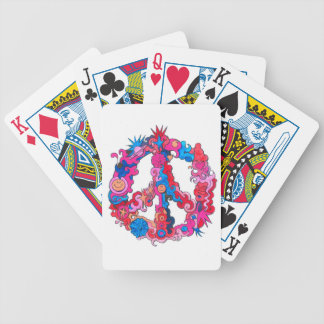 Psychdeclic Peace Symbol Bicycle Playing Cards