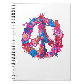 Psychdeclic Peace Symbol Notebook