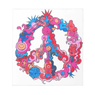 Psychdeclic Peace Symbol Notepads