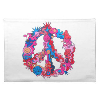 Psychdeclic Peace Symbol Placemat