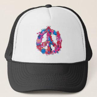 Psychdeclic Peace Symbol Trucker Hat