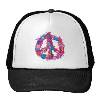 Psychdeclic Peace Symbol Trucker Hat