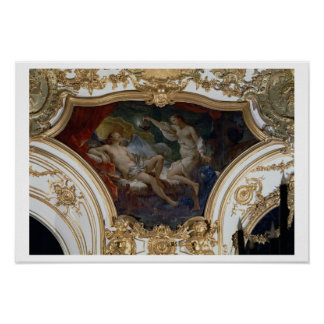 Psyche and Cupid, ceiling panel from the Salon de Poster