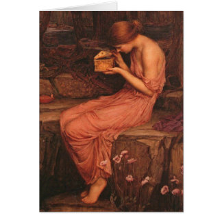 Psyche and Golden Box John William Waterhouse Card