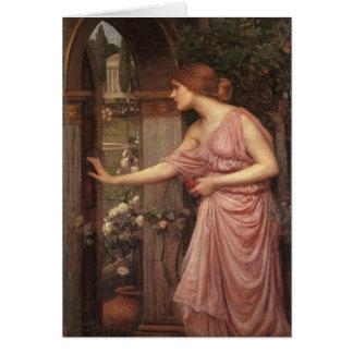 Psyche Opening the Door into Cupid's Garden Card