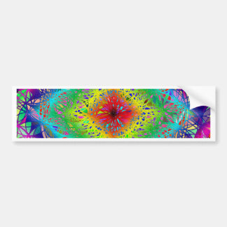 Psychedeli colors and Crystal Bumper Sticker