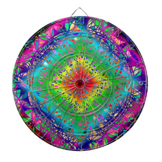 Psychedeli colors and Crystal Dartboard With Darts