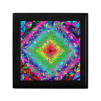 Psychedeli colors and Crystal Gift Box