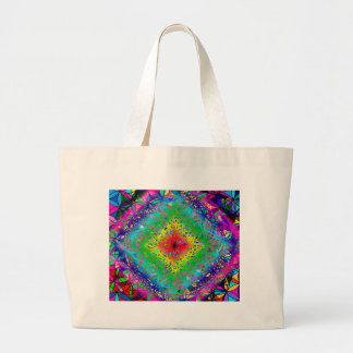 Psychedeli colors and Crystal Large Tote Bag