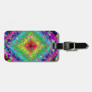 Psychedeli colors and Crystal Luggage Tag