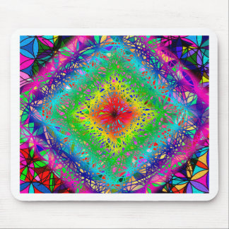 Psychedeli colors and Crystal Mouse Pad