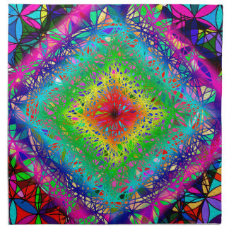 Psychedeli colors and Crystal Napkin